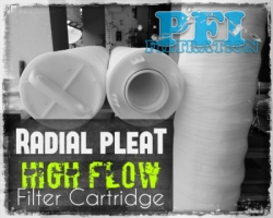 Radial Pleat High Flow Cartridge Filter Indonesia  large